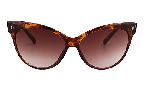 Beison Womens Cat Eye Retro Vintage Sunglasses Eyeglasses (Tortoise shell, Gradient - Spectacles Shell Tortoise