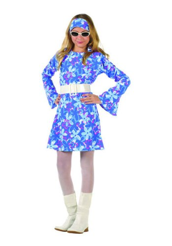 [70s Fever - Blue Dress Child X-Large (XL) Costume by RG Costumes] (70s Couple Costumes)