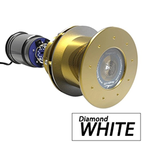 - Bluefin LED Great White GW20 Thru-Hull Underwater LED Light - 9000 Lumens - Diamond White Marine , Boating Equipment