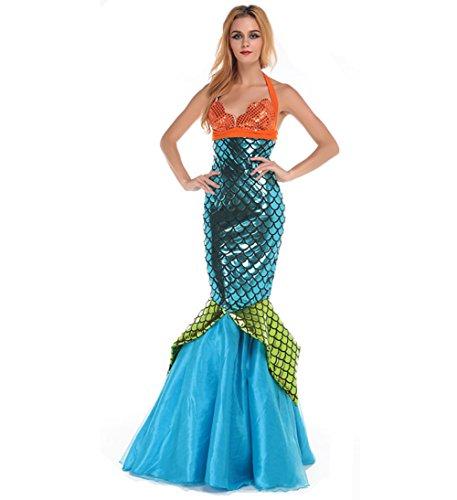 Blugibedramsh Women Halloween Custume Mermaid Costume (Adult Halloween Custumes)