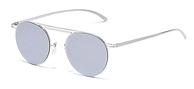 Lunettes de soleil CHTIT Miroir Homme Femme Ronde Style de yeux de chat Diamant # TSGL303 (or-brun) daoXPcj