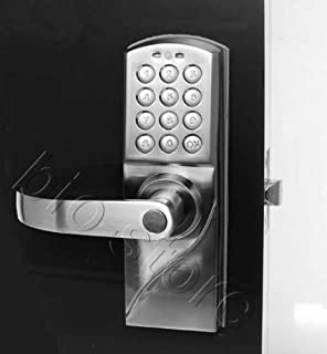 left handed digital keypad door lock with backup keys electronic keyless entry by password code