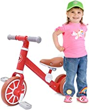 Balance Bike for 18-36 Months Toddlers Kids Balance Training Bicycle Adjustable Seat Detachable Pedals Indoor