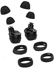 kwmobile 4x cover voor in-ear oortjes compatibel met Samsung Galaxy Buds/Buds Plus - Vervangende oordopjes in zwart
