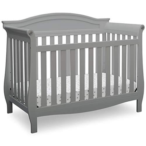 Delta Children Lancaster 4-in-1 Convertible Baby Crib, Grey from Delta Children