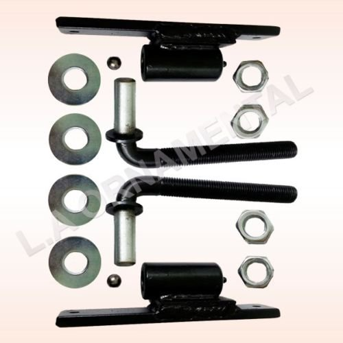 - 3/4 J-Bolt with Plate J Bolt Hinges For Large Heavy Driveway Gates, Steel, Iron, Wood or Aluminum Mounts on a 4 X 4 Post