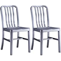 Alex Land Modern Stainless Steel Dining Chair - Indoor or Outdoor (Pack of 2)