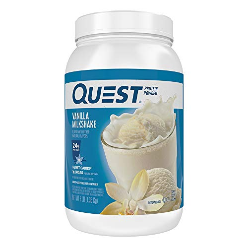 Quest Nutrition Vanilla Milkshake Protein Powder,  High Protein, Low Carb, Gluten Free, Soy Free, 48 Ounce (Pack of 1)
