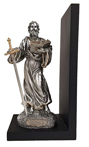 St. Paul Bookend with Pewter Finish and Gold Trim ()