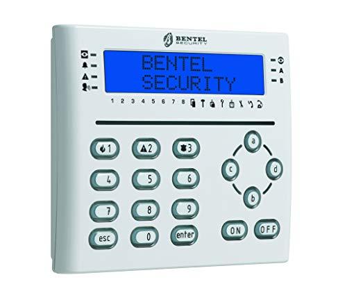 Bentel T-White - Teclado LCD Blanco con Lector de proximidad y 3 terminales I/O programables