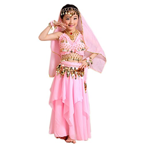 Costumes Dance Performance Belly (Seawhisper Halloween Costumes Oriental Belly Dance Costume Accessories for Girls Kids 4T 4 5)
