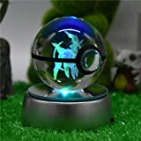 Halo Design 3D LED Laser Engraved 50MM Crystal Ball Night Light Lamp
