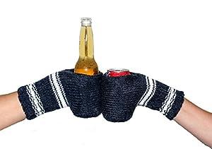 Amazon.com: Boozy Kuzy Beer Gloves - Knit Beer Mitt (Twin