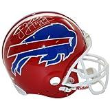 Jim Kelly signed Buffalo Bills Full Size Riddell TB Rep Helmet HOF 02 inscribed (silver signature)- Steiner Hologram