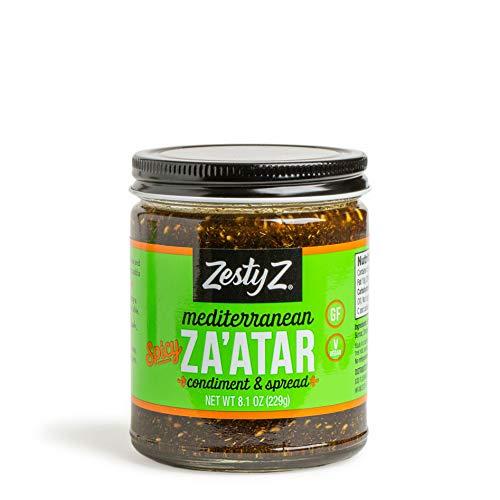 Spicy Za'atar Condiment (Zaatar/Zatar/Zahtar), Mediterranean Spice Blend, All Natural, Gluten Free, Vegan, Keto, Paleo, Sugar Free, Zesty Z, 8.1 ()