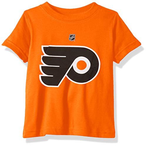Outerstuff NHL NHL Philadelphia Flyers Infant Primary Logo Basic Short Sleeve Tee, Orange, 12 Months