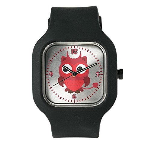 Black Fashion Sport Watch Little Spooky Owl Devil Monster
