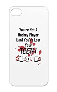 TPU Red Hockey Sports Roller Hockey Nhl Blood Teeth Sports Player Blues Real Players For Iphone 5 Case