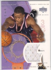 Steve Francis Jersey - 2003-04 UD Glass Game Gear #GGSF Steve Francis Jersey