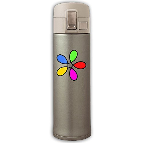 Roses Potable Stainless Bounce Cover Insulation Cup,Traveling Space Bottle