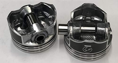 "Sealed Power Chevy 350 4.000/"" Flat Top 2 VR Pistons /& Moly Rings Kit SBC H631CP"