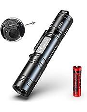 WUBEN torcia LED tattica torcia Militare ultra luminosi, alta potenza Flashlight ricaricabile IPX8 impermeabile, per campeggio, uso di emergenza