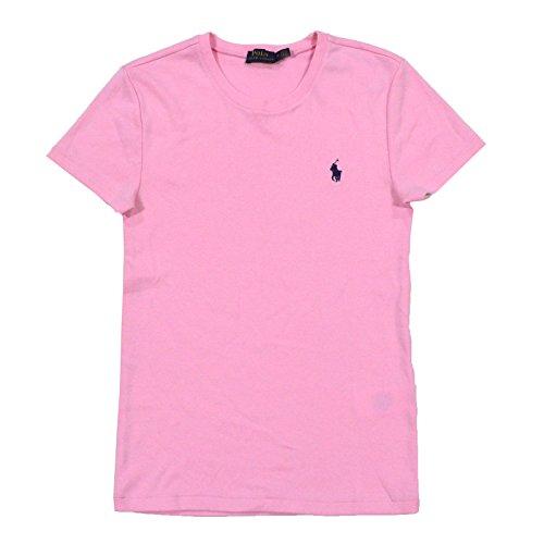 Polo Ralph Lauren Womens Short Sleeve Crew Neck Perfect T-Shirt (Medium, Pink)