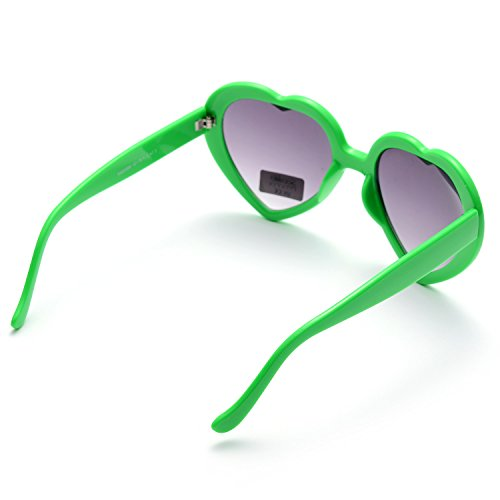 ONNEA Colores 6 Corazón Gafas pack Pares de 6 Fiesta pack Forma Paquete Multicolor Neon Verdes de Sol 6 rFfqvnxr8