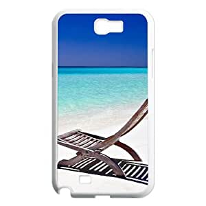 WJHSSB Diy Phone Case Island Beach Pattern Hard Case For Samsung Galaxy Note 2 N7100