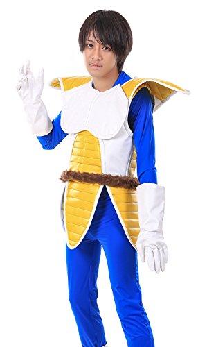 [SDWKIT Dragon Ball Z Prince of All Saiyans Vegeta Fighting Uniform V1 Set] (Dragon Ball Costume With Tail)