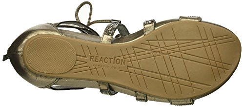 Kenneth Cole Reaction Women's 7 Lost Look Gladiator Laceup Sandal Pewter 84ccTfPm