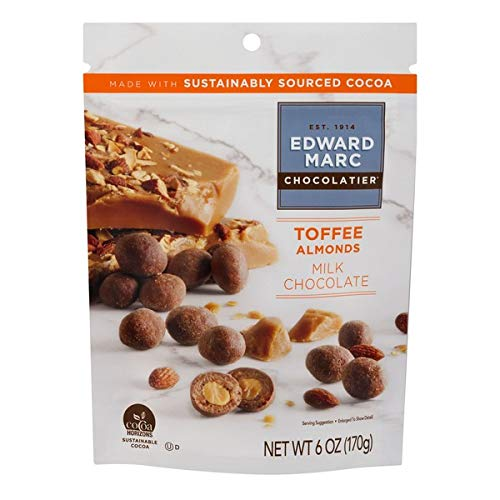 Edward Marc Almonds Milk Chocolate 6 oz. (Pack of 3)