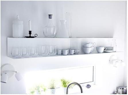 Ikea Botkyrka – Estantería de Pared, Blanco – 80 x 20 cm ...