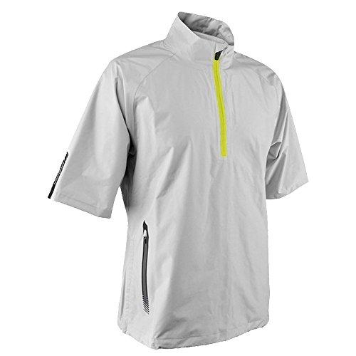 (Sun Mountain 2017 Men's Cumulus Short-Sleeve Pullover (Steel-White, Small))