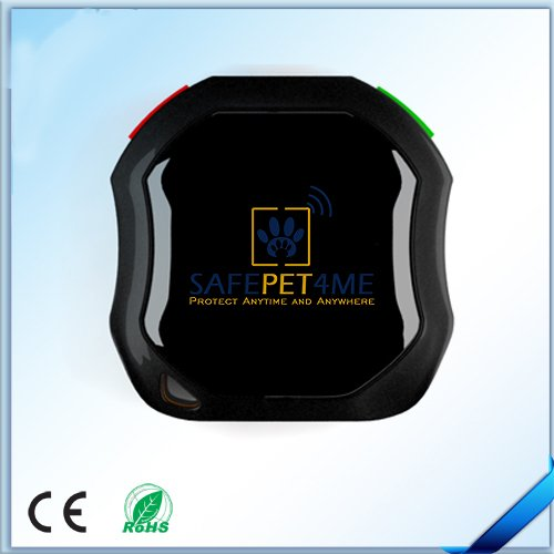 SAFEPET4ME Waterproof Pet GPS Trackers, Black