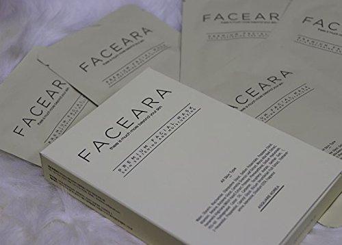 FACEARA - Juego de 100 hojas de máscara facial premium para ...