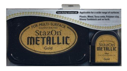 Tuskineko Stazon Metallic Ink Gold product image