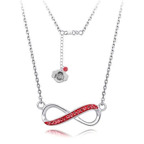 ohio-state-infinity-necklace-with-18-sterling-silver-necklace-crystals
