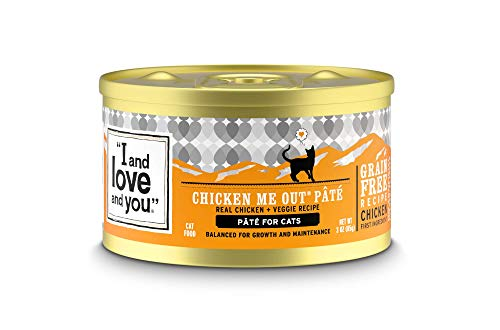 """I and love and you"" Chicken Me Out Recipe Grain Free Canned Cat Food, 3 oz (Pack of 24)"