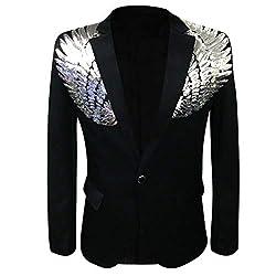 Men's Wedding Sequin Wing Stage Premium Suit