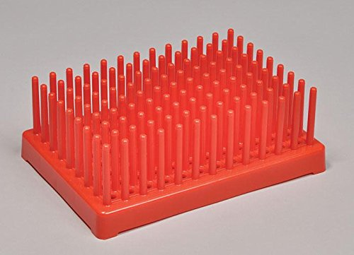 United Scientific Supplies 77852 Test Tube Drying Rack, 50 Places (Pack of 6)