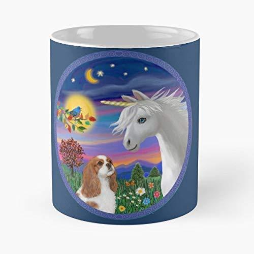 Cavalier King Charles Spaniel Blenheim Art Funny Christmas Day Mug Gifts Ideas For Mom - Great Ceramic Coffee Tea Cup