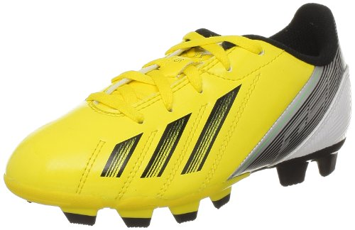 adidas F5 Trx Fg J, Chaussures de football mixte enfant Giallo (VIVID YELLOW S13 / BLACK 1 / GREEN ZEST S13)