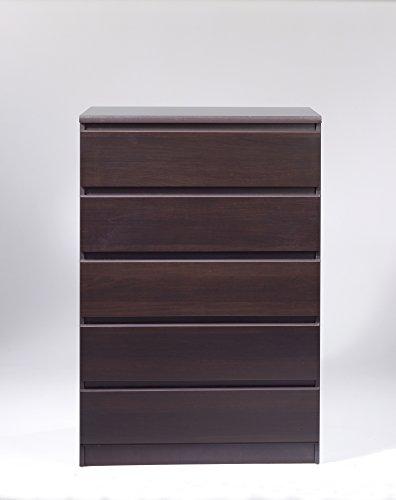 Tvilum Scottsdale 5 Drawer Chest, Coffee (Furniture Chester Discount)
