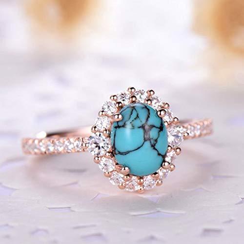 Amazon Com Cz Diamond Halo Black Blue Turquoise Engagement Ring