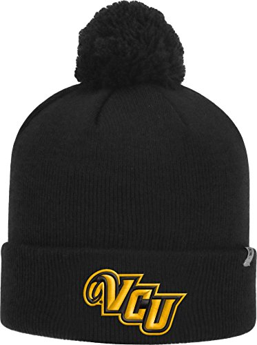 (Top of the World Men's VCU Rams Black Pom Knit Beanie (OneSize))