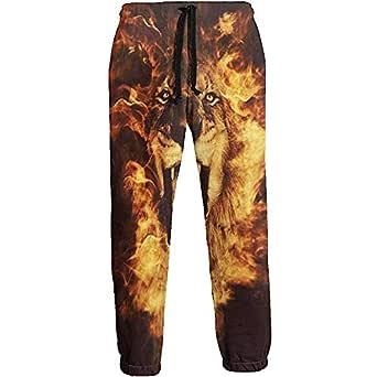Eternity Bliss Fire Lion Pantalones de chándal para Hombre ...