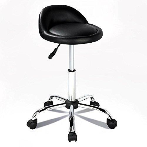 New Rolling Hydraulic Bar Stool Salon Barber Chair Spa Stool Pedicure / Manicure Nail Technician Massage Equipment | Black by Eosphorus