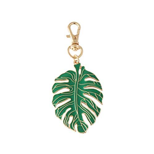 Amosfun Tropical Palm Leaf Keychain Green Leaf Key Ring Tropical Party Decoration Birthday Gift Luau Hawaiian Party Decoration (Key Chain Plant)