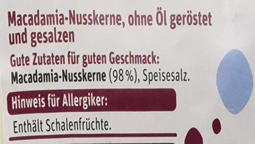 tegut... Macadamianüsse gesalzen und ohne Öl geröstet - Snack Nüsse - 1 Packung, 100g - reich an Mineralstoffen für Sport Party